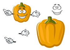 Cartoon sweet yellow bell pepper vegetable Royalty Free Stock Images
