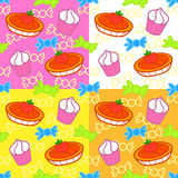 Cartoon sweets seamless pattern Royalty Free Stock Photo