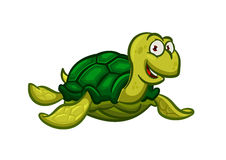 Cartoon swimming sea turtle character Royalty Free Stock Photo