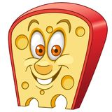Cartoon Swiss cheese piece Stock Images