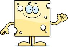 Cartoon Swiss Cheese Waving Stock Images