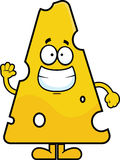 Cartoon Swiss Cheese Waving Royalty Free Stock Images