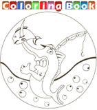Cartoon swordfish coloring book Stock Image