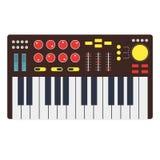 Cartoon Synth or Music Keyboard. Vector Royalty Free Stock Photos