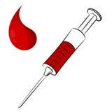 Cartoon syringe  Royalty Free Stock Images