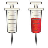 Cartoon syringe Stock Images