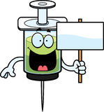 Cartoon Syringe Sign Royalty Free Stock Photo