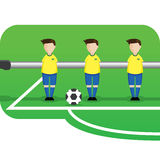 Cartoon table football team brazil Royalty Free Stock Photo