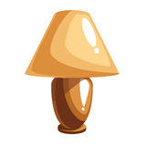 Cartoon table lamp. Cartoon brown and beige table lamp. Vector illustration Royalty Free Stock Image