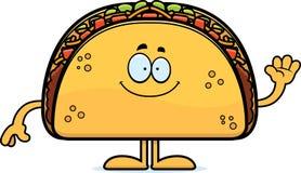Cartoon Taco Waving Stock Photo