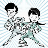 Cartoon taichi or martial art Stock Photo