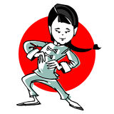 Cartoon taichi or martial art Royalty Free Stock Images
