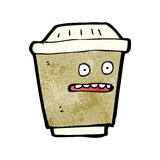 Cartoon take out coffee Royalty Free Stock Image