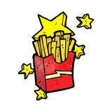 Cartoon take out fries Stock Image
