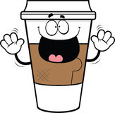 Cartoon Takeout Coffee Cup Royalty Free Stock Photos