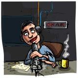Cartoon Talk radio presenter royalty free illustration