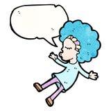 Cartoon talking hippie girl Stock Images