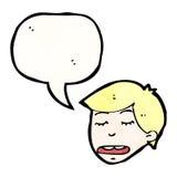cartoon talking man Royalty Free Stock Photo