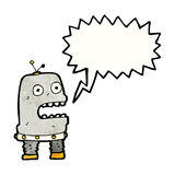 cartoon talking robot Stock Photography