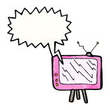 cartoon talking television Royalty Free Stock Photography
