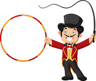 Cartoon tamer holding ring Stock Photography