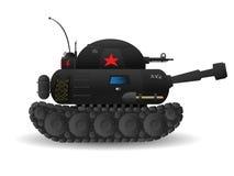 Cartoon tank. Stylized cartoon tank on white background Royalty Free Stock Photos