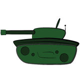 Cartoon tank Stock Photo
