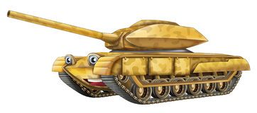 Cartoon tank Stock Image