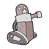 cartoon tank robot Stock Photography