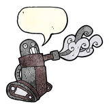 cartoon tank robot with speech bubble Royalty Free Stock Photos