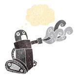 cartoon tank robot with thought bubble Stock Images