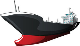 Cartoon tanker. Tanker in cartoon style as a  illustration Royalty Free Stock Photo