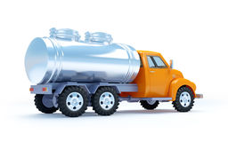 Cartoon tanker truck back Stock Photos