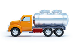 Cartoon tanker truck side Stock Image