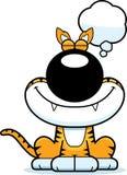 Cartoon Tasmanian Tiger Dreaming Stock Images
