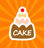 Cartoon tasty cake Royalty Free Stock Photo