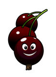 Cartoon tasty currant berries Stock Images