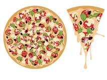 Cartoon Tasty Pizza Stock Photography