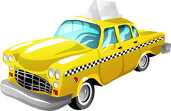 Cartoon taxi Royalty Free Stock Image