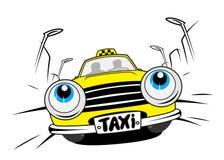 Cartoon taxi car Stock Photo
