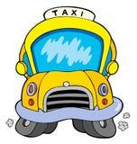Cartoon taxi car. Illustration Stock Photography