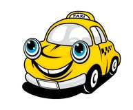 Cartoon taxi car Royalty Free Stock Photo