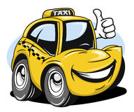 Cartoon taxi. Car giving a thumbs up Royalty Free Stock Photo