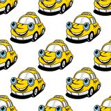 Cartoon taxi car seamless pattern Royalty Free Stock Images