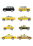Cartoon taxi car Stock Image