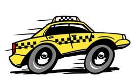 Cartoon taxi Stock Image
