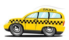 Cartoon taxi. Fast cartoon yellow taxi car Royalty Free Stock Photography