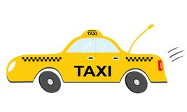 Cartoon taxi. Illustration isolated on white background Stock Image