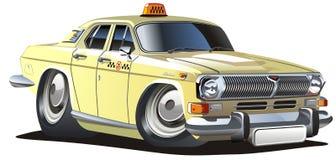 cartoon taxi vector Στοκ φωτογραφία με δικαίωμα ελεύθερης χρήσης