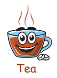 Cartoon tea cup Stock Image